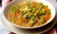 zuppa farro fave